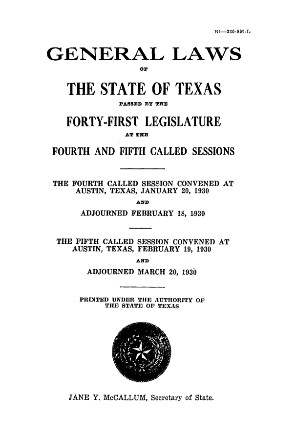 handle is hein.ssl/sstx0122 and id is 1 raw text is: 134-330-8M-L