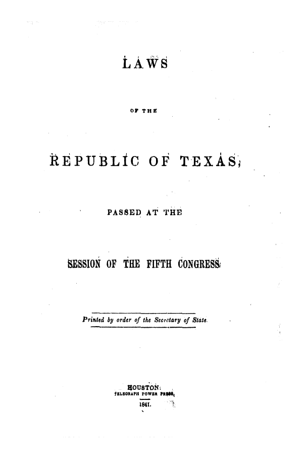 handle is hein.ssl/sstx0171 and id is 1 raw text is: LAWS