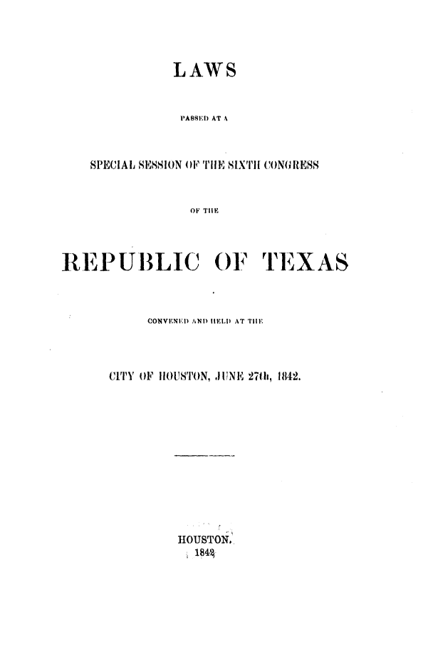 handle is hein.ssl/sstx0173 and id is 1 raw text is: LAWS