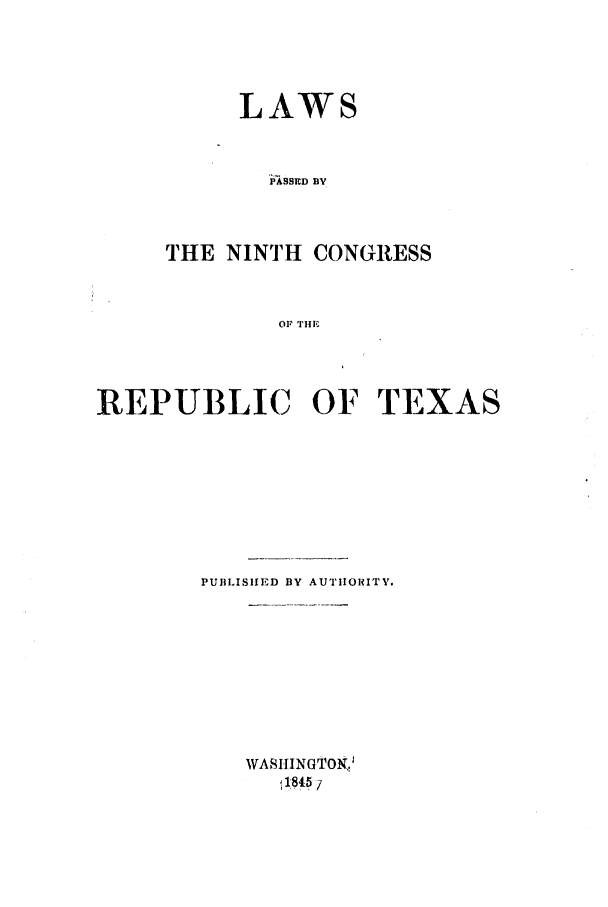 handle is hein.ssl/sstx0176 and id is 1 raw text is: LAWS