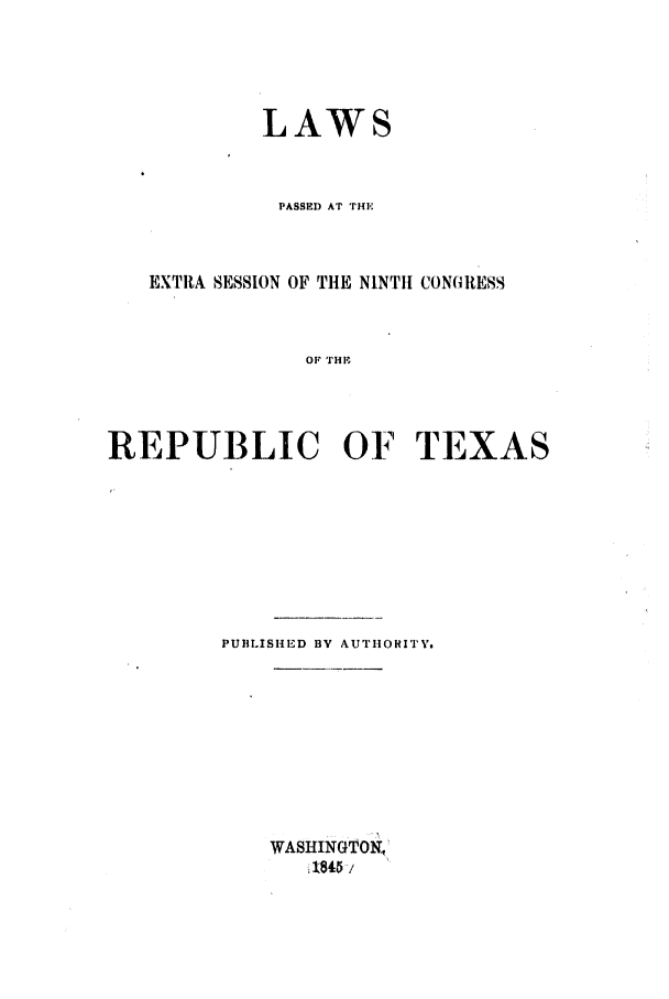 handle is hein.ssl/sstx0177 and id is 1 raw text is: LAWS