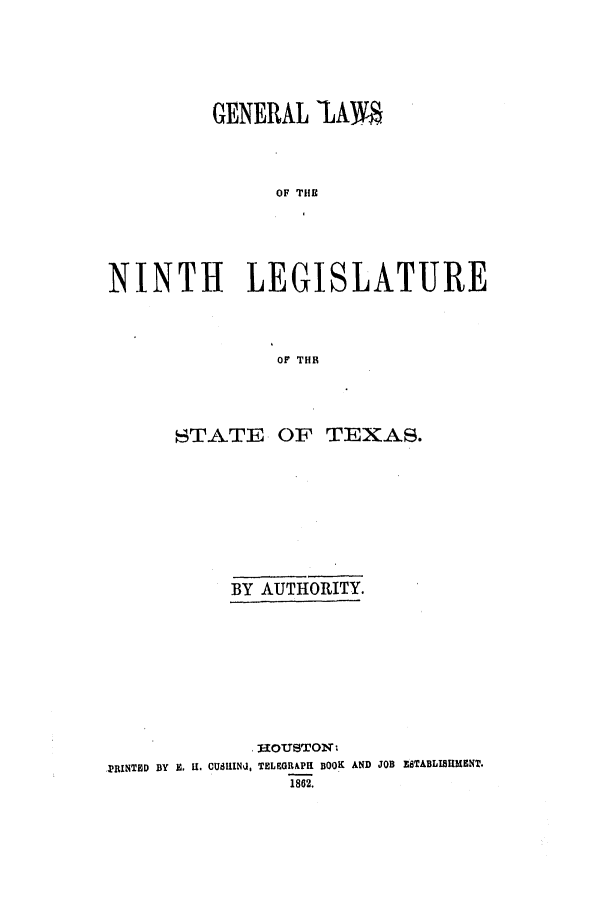 handle is hein.ssl/sstx0201 and id is 1 raw text is: GENERAL LAM.
