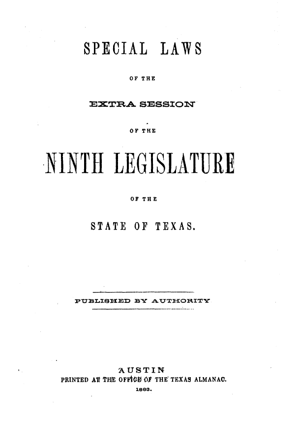 handle is hein.ssl/sstx0204 and id is 1 raw text is: SPECIAL LAW8