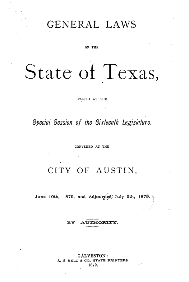 handle is hein.ssl/sstx0229 and id is 1 raw text is: GENERAL LAWS