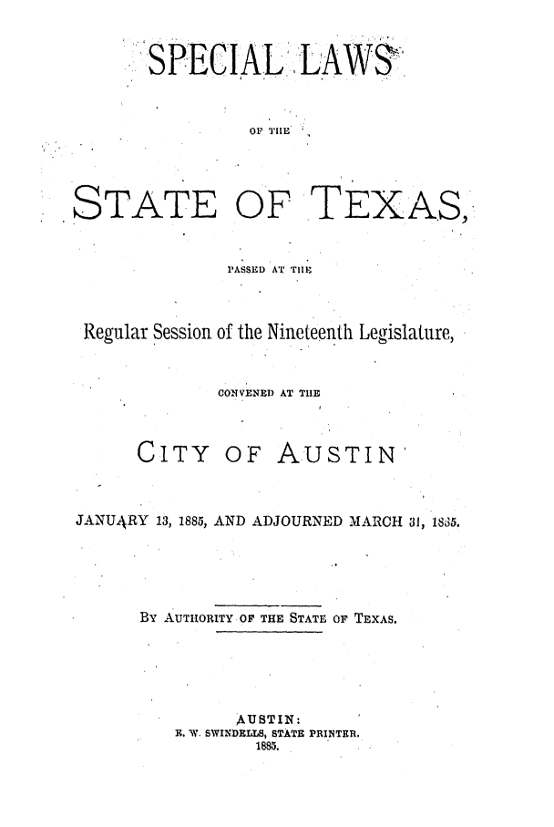 handle is hein.ssl/sstx0237 and id is 1 raw text is: SPECIAL .LAW3,
