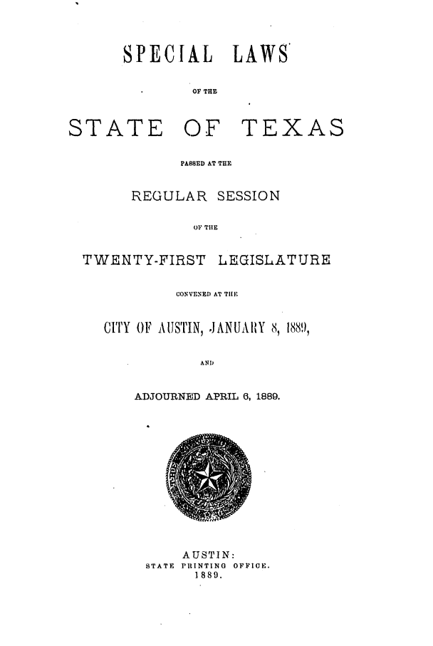 handle is hein.ssl/sstx0242 and id is 1 raw text is: SPECIAL LAWS'