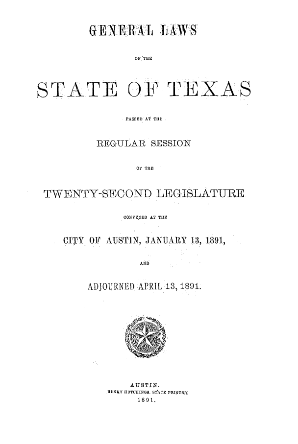 handle is hein.ssl/sstx0243 and id is 1 raw text is: GENE.RJAL LAWS