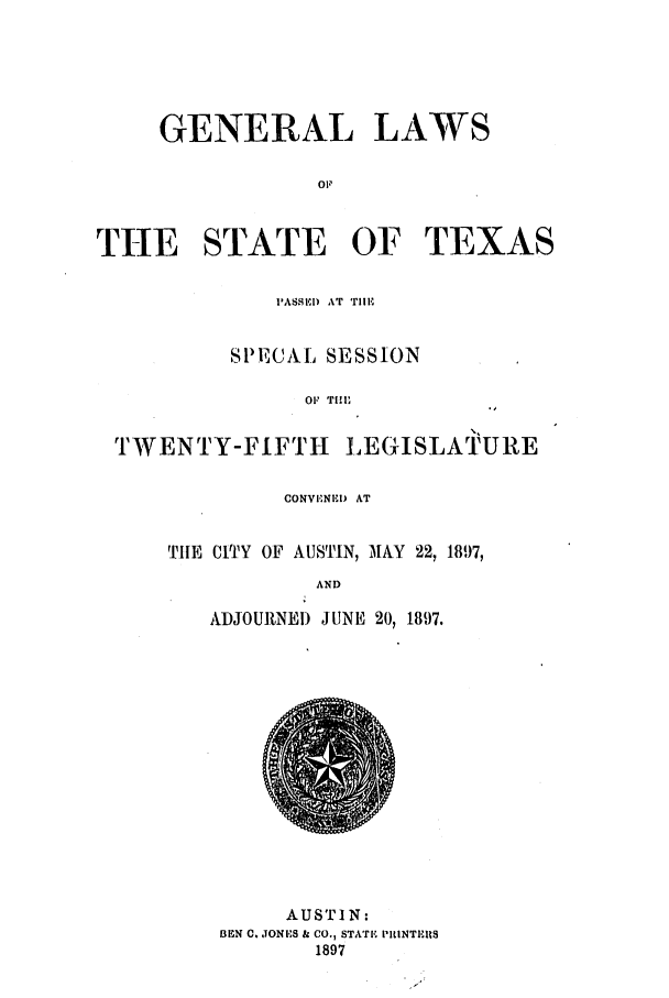 handle is hein.ssl/sstx0253 and id is 1 raw text is: GENERAL