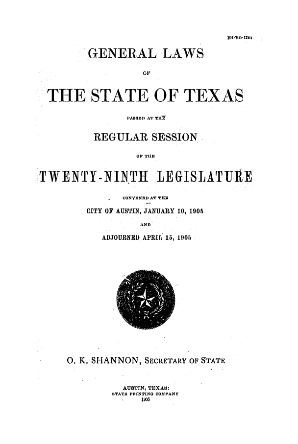 handle is hein.ssl/sstx0262 and id is 1 raw text is: 104-705-1111