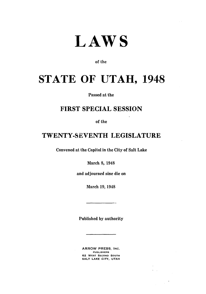 handle is hein.ssl/ssut0046 and id is 1 raw text is: LAWS