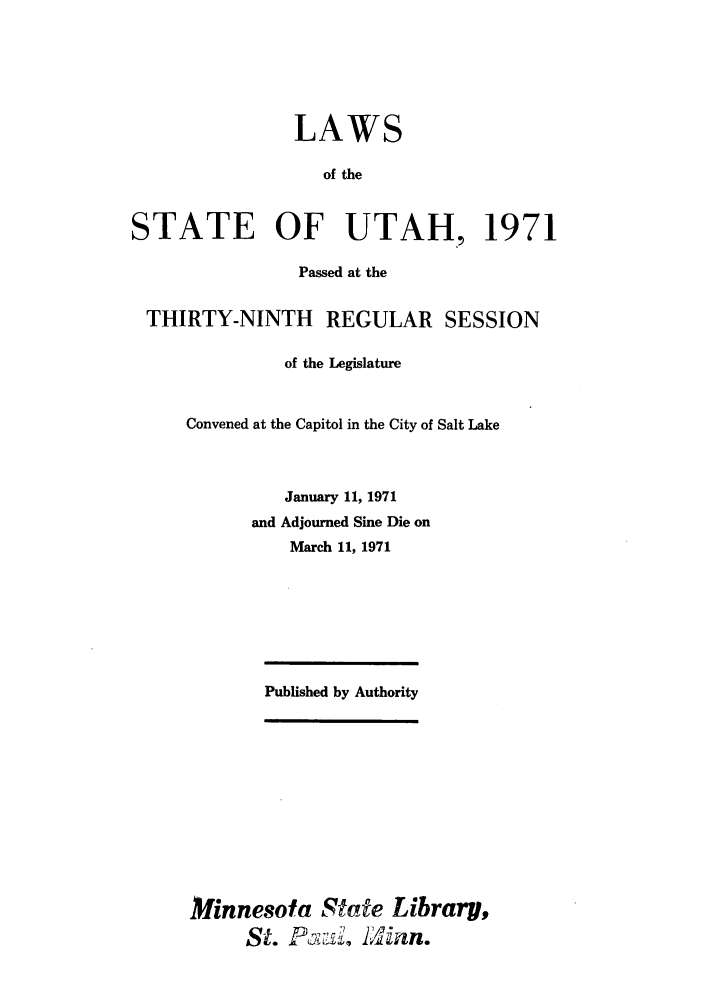 handle is hein.ssl/ssut0064 and id is 1 raw text is: LAWS
