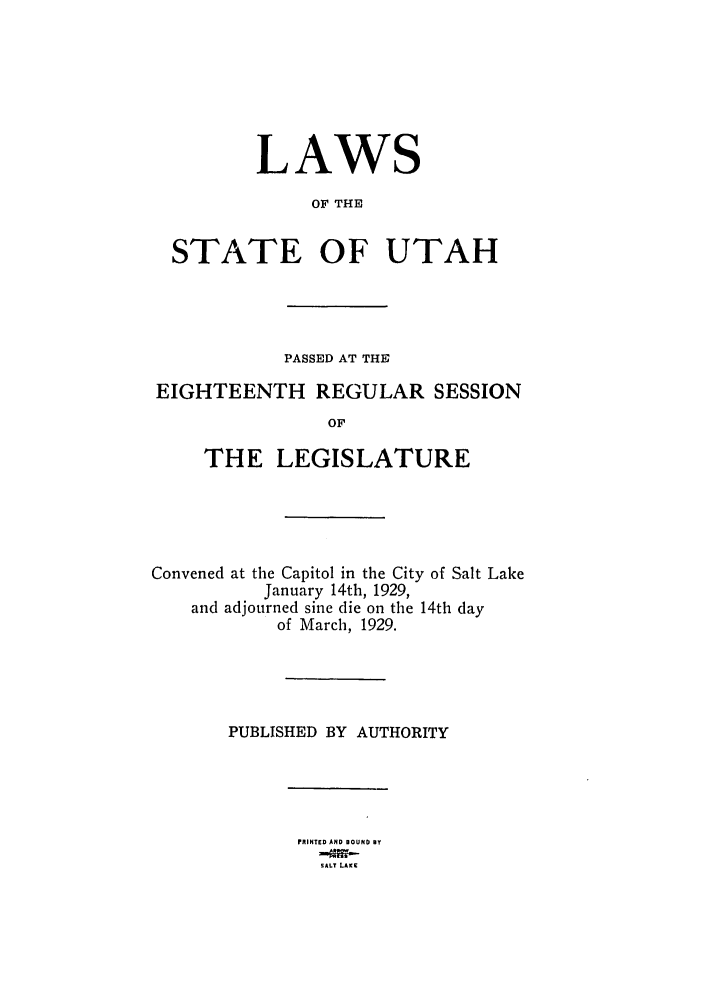 handle is hein.ssl/ssut0129 and id is 1 raw text is: LAWS