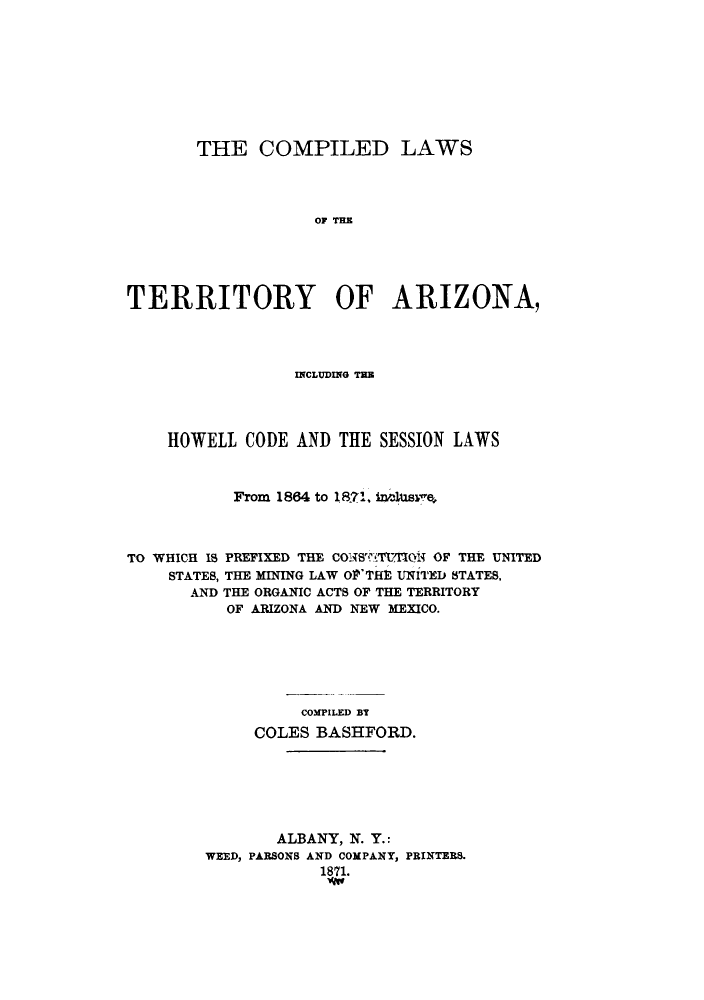handle is hein.sstatutes/ctarih0001 and id is 1 raw text is: THE COMPILED LAWS