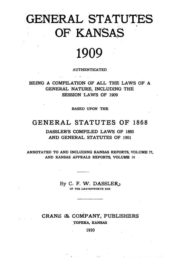 handle is hein.sstatutes/gnlstkns0001 and id is 1 raw text is: GENERAL STATUTES
