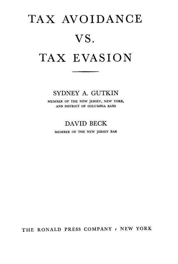 tax avoidance v tax evasion