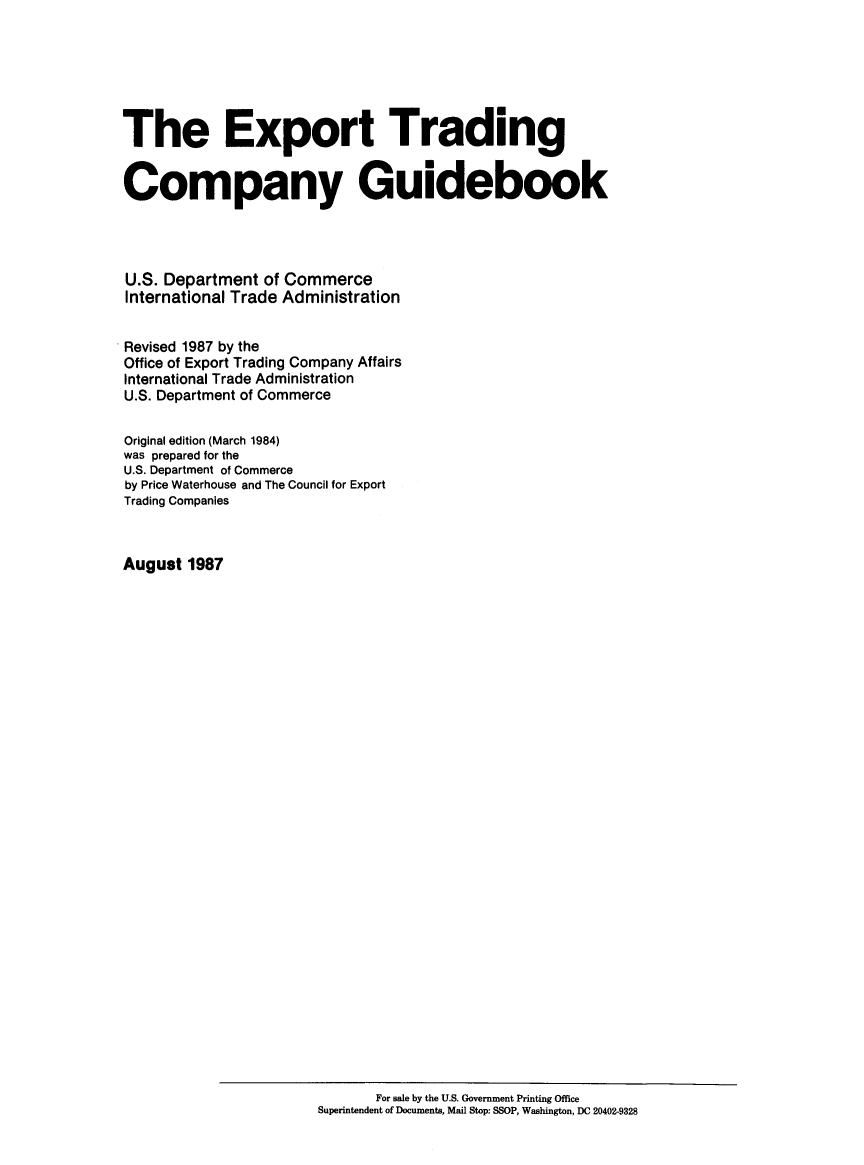Export Trading Company Guidebook V  1