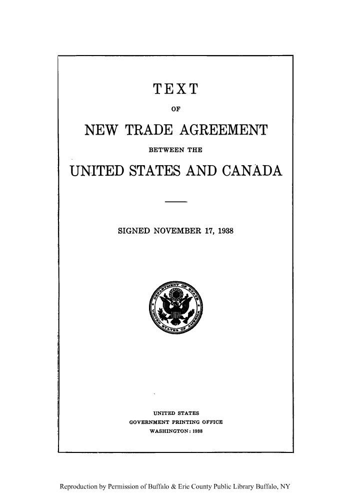 Text Of New Trade Agreement Between The United States And Canada
