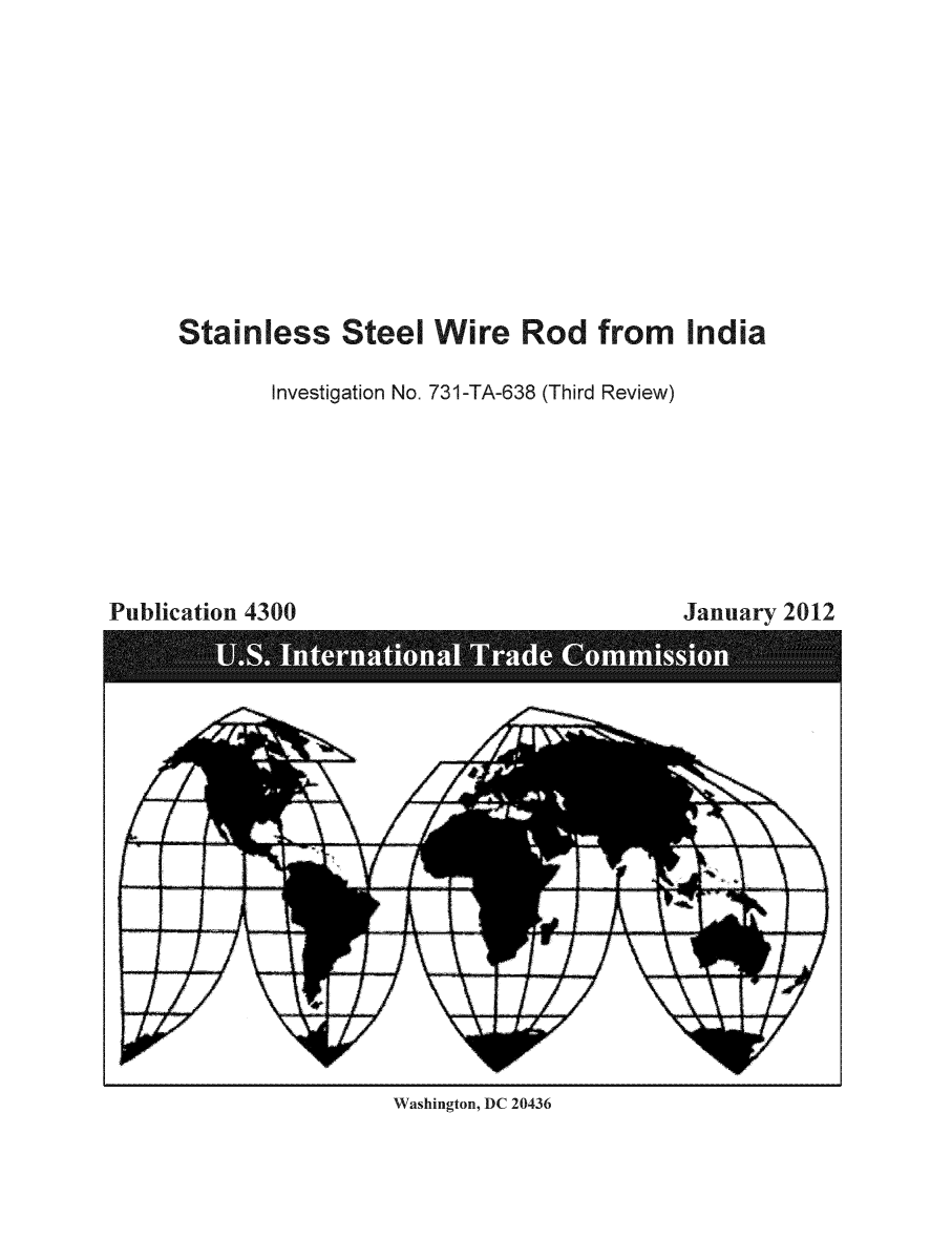 Stainless Steel Wire Rod From India Inv 731 Ta 638 Third Review Diagram Handle Is Heintrade Usitc4353 And Id 1 Raw Text