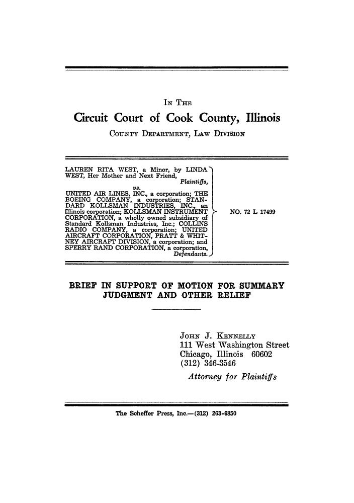 Wilma Beshoar, et al., vs. United Air Lines, Inc, et al ...