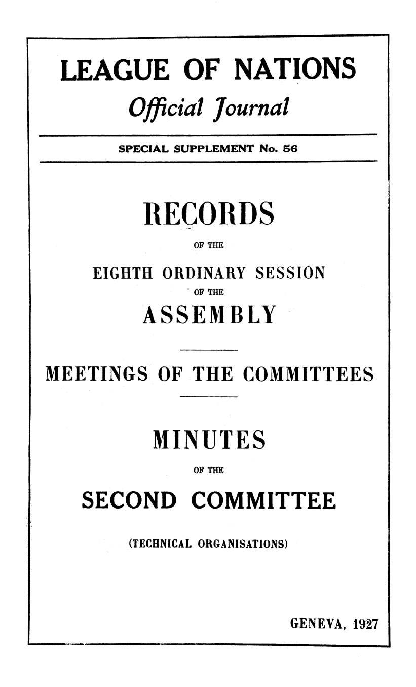 handle is hein.unl/offjrnsup0056 and id is 1 raw text is: LEAGUE OF NATIONS