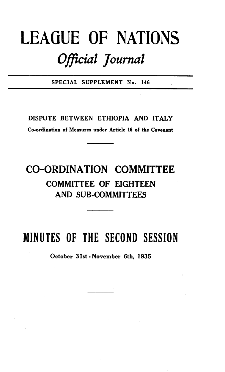 handle is hein.unl/offjrnsup0146 and id is 1 raw text is: LEAGUE      OF ..NATIONS