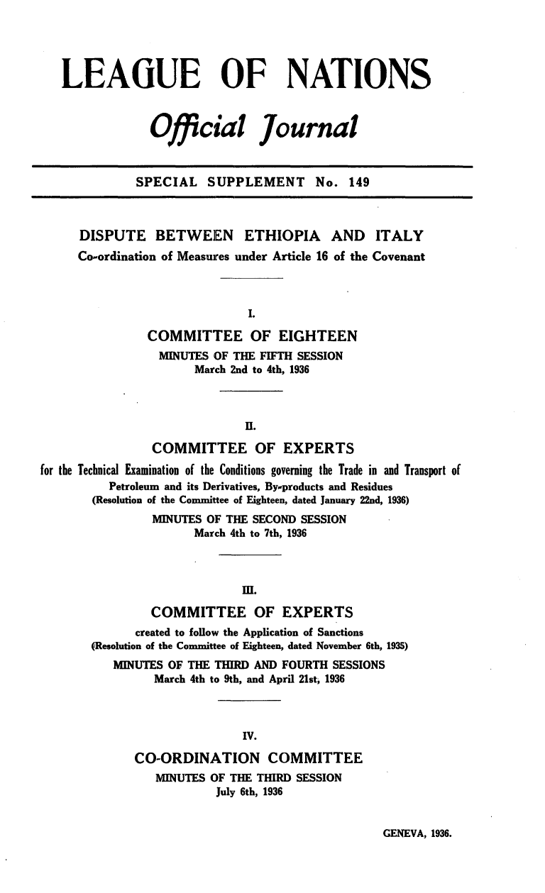 handle is hein.unl/offjrnsup0149 and id is 1 raw text is: LEAGUE OF NATIONS