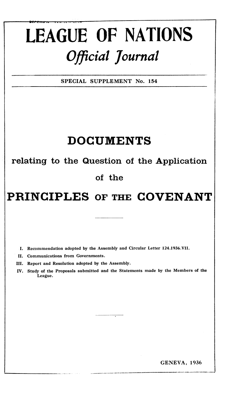 handle is hein.unl/offjrnsup0154 and id is 1 raw text is: LEAGUE OF NATIONS