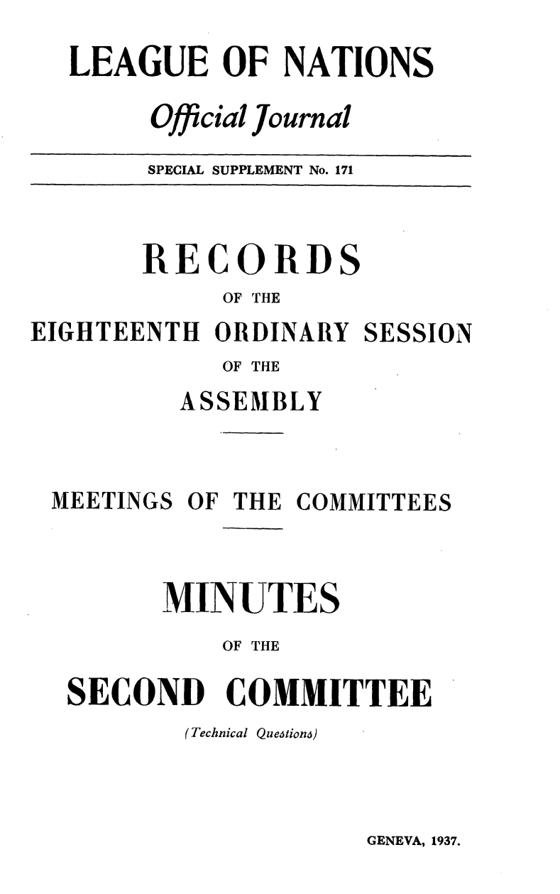 handle is hein.unl/offjrnsup0171 and id is 1 raw text is: LEAGUE OF NATIONS