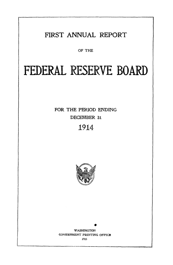 handle is hein.usfed/anlbgovfed0001 and id is 1 raw text is: FIRST ANNUAL REPORT