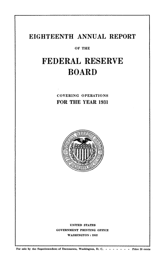 handle is hein.usfed/anlbgovfed0018 and id is 1 raw text is: EIGHTEENTH ANNUAL REPORT