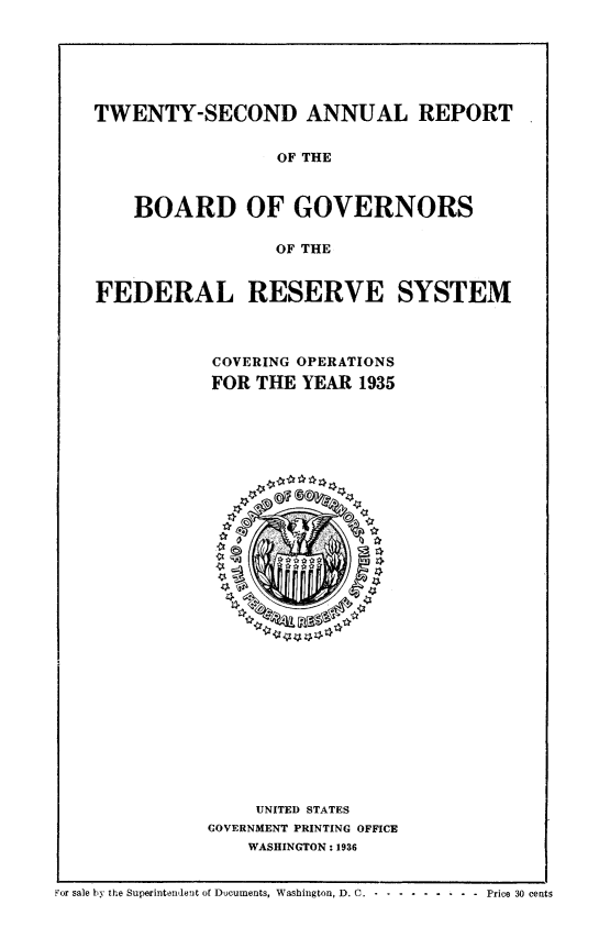 Annual Report of the Board of Governors of the Federal