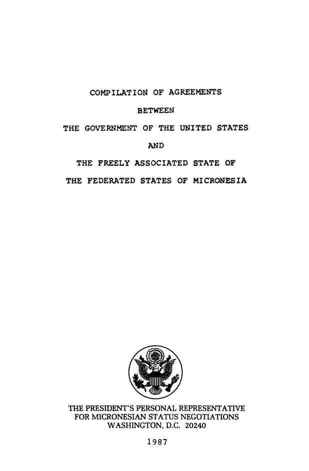 Compilation Of Agreements Between The Government Of The United